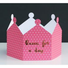 Queen for a day 3d crown greeting card