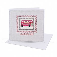 London bus cross stitch card