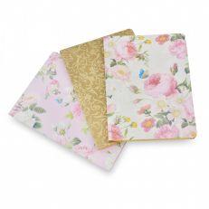 Royal palace rose set of 3 notebooks