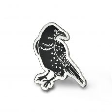 raven pin badge