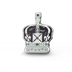 crown of india pin badge