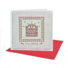 Kensington palace cross stitch card