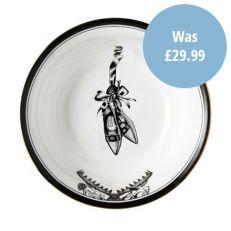 'Beware of the wear trap' fine bone china bowl