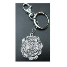 Rose crystal keyring
