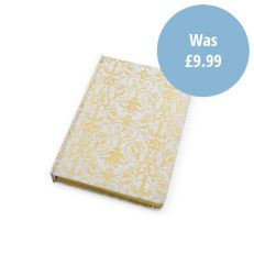Royal Victoria B6 glitter gold and silver notebook