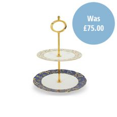 Royal Victoria bone china 2 tier cake stand