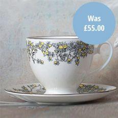 Atty & Smart English Kingfisher vintage style teacup & saucer