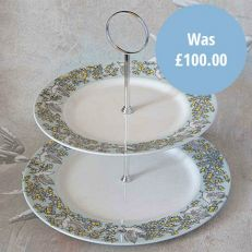 Atty & Smart English Kingfisher two-tier cake stande - Made in the UK