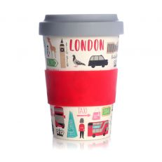 London Adventures bamboo travel cup