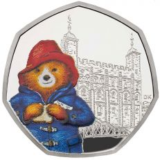 Paddington at the Tower 50p Silver Proof Coin
