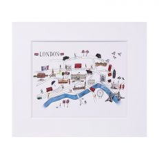 "London illustrated map print 12"" x 14"""