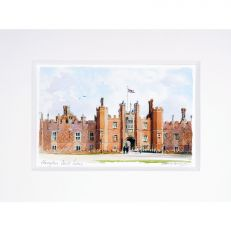 Hampton Court Palace watercolour mini print 8X6""