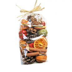 Christmas scented dried fruit mix bag