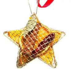 Gold mesh star scented decoration