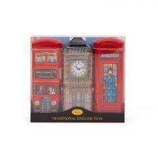 Large London Bus, Big Ben, Telephone Box Tea Tin Gift Set