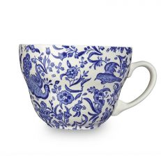 Blue Regal Peacock earthenware breakfast cup and saucer