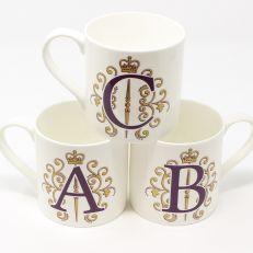 Alphabet fine bone china mug