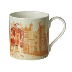 Illustrated Henry VIII at Hampton Court Palace fine bone china mug