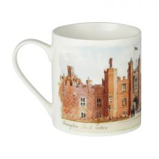 Hampton Court Palace watercolour bone china mug side