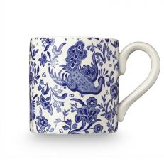 Blue Regal Peacock earthenware mug