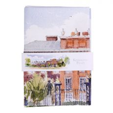 Kensington Palace watercolour tea towel folded
