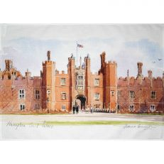 Hampton Court Palace watercolour tea towel