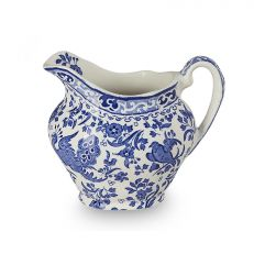 Blue Regal Peacock earthenware cream jug