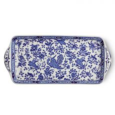 Blue Regal Peacock earthenware sandwich tray