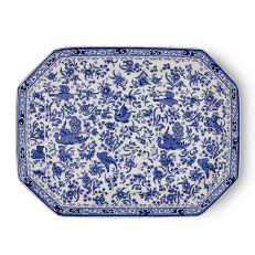 REGAL PEACOCK RECTANGULAR PLATTER