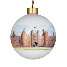 Hampton Court Palace watercolour ceramic bauble decoration front