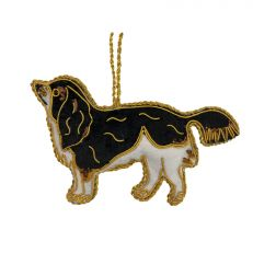 Queen Victoria's pet King Charles Spaniel 'Dash' embroidered decoration front