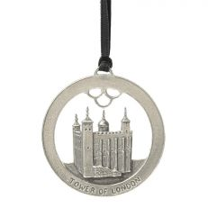 Tower of London pewter disc decoration