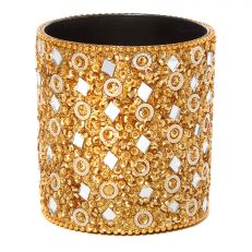 Gold beaded pen pot