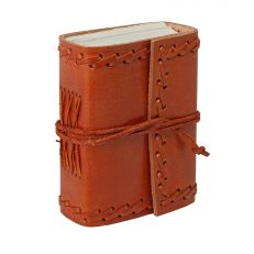 Small stitched leather notebook