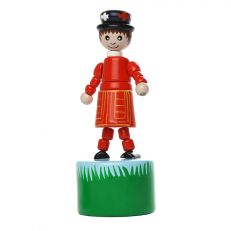 Traditional children's wooden Little London Beefeater push up toy