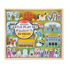 32 piece children's wooden castle play set
