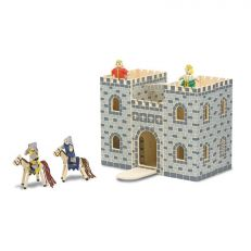 Children's wooden fold and go play castle