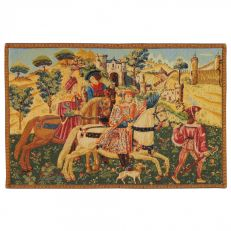 Flemish Tapestries Departure for the hunt tapestry