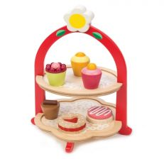 Traditional children's wooden afternoon tea play set