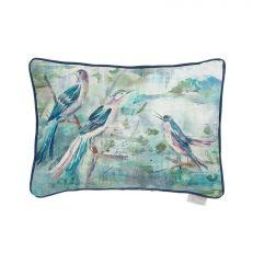 Luxury arabella watercolour birds cushion