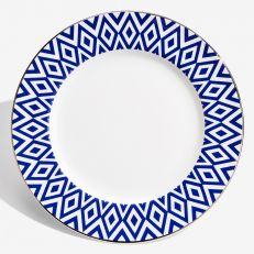 "The Aragon Collection midnight blue fine bone china 6"" plate"