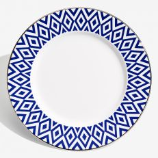"The Aragon Collection midnight blue fine bone china 8"" plate"