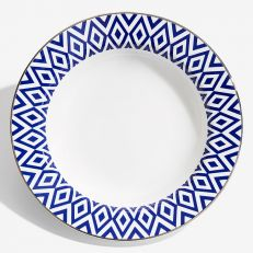 "The Aragon Collection midnight blue fine bone china 9"" soup plate"