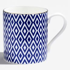 The Aragon Collection midnight blue fine bone china mug