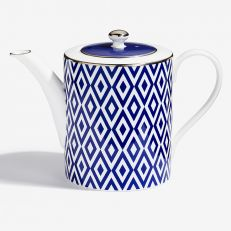 The Aragon Collection midnight blue fine bone china teapot