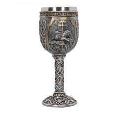 Medieval armoured knight goblet