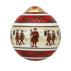 Halcyon Days Yeoman Warder luxury ceramic bauble