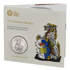 The Royal Mint Queen's Beasts The Yale of Beaufort 2019 UK £5 brilliant uncirculated coin