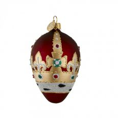 Brink Red royal crown glass bauble