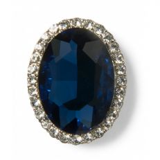 Princess Diana faux sapphire brooch